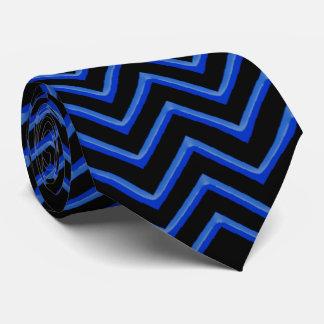 Neón/azul adaptables de Chevron Corbatas Personalizadas