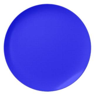 Neón azul marino plato