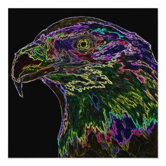 Neon Bald Eagle 2 Card
