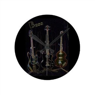 Neon Bass Clock