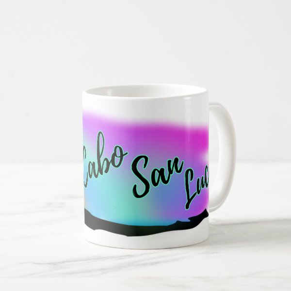 Neon Beach Skies At Cabo San Lucas Coffee Mug