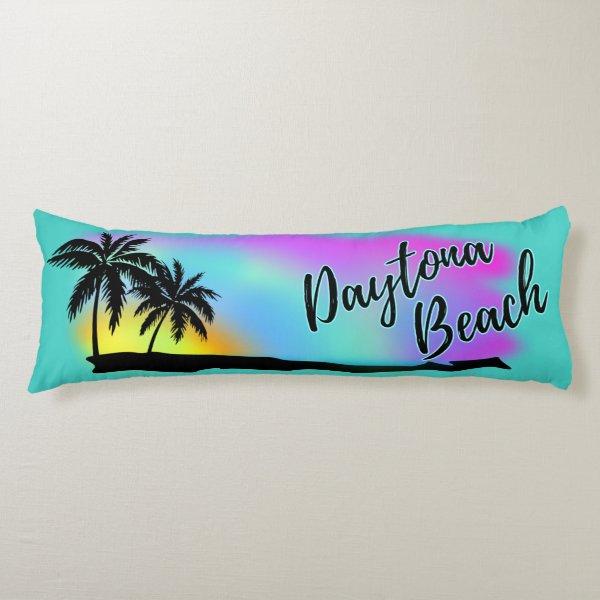 Neon Beach Skies At Daytona Beach Body Pillow