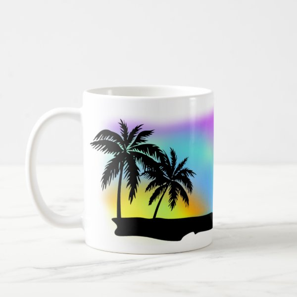 Neon Beach Skies At Daytona Beach Coffee Mug