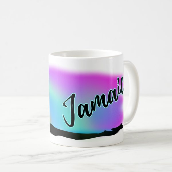 Neon Beach Skies At Jamaica Coffee Mug