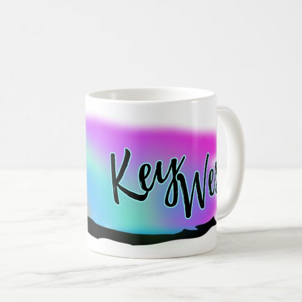 Neon Beach Skies At Key West Coffee Mug