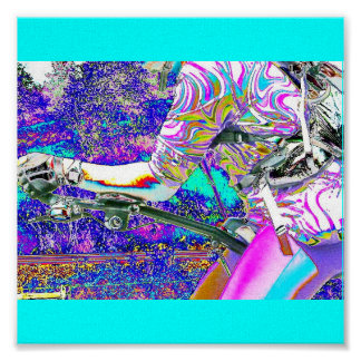 Neon Biking Attire and Day Poster