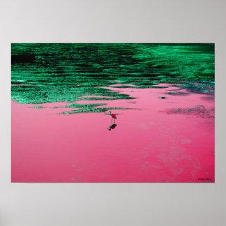 "Neon Bird Poster (19"" x 13"")"