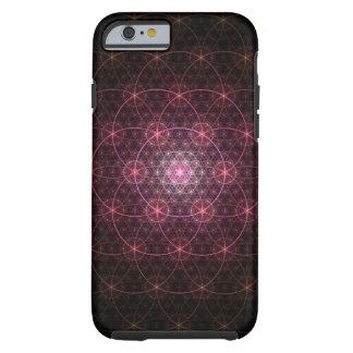 Neon Black Flower of Life Tough iPhone 6 Case