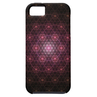 Neon Black Flower of Life iPhone 5 Cover