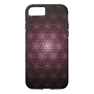 Neon Black Flower of Life iPhone 7 Case