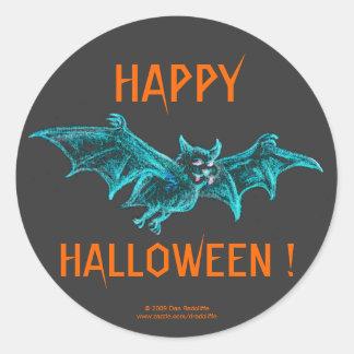 Neon Blacklight Bat Classic Round Sticker