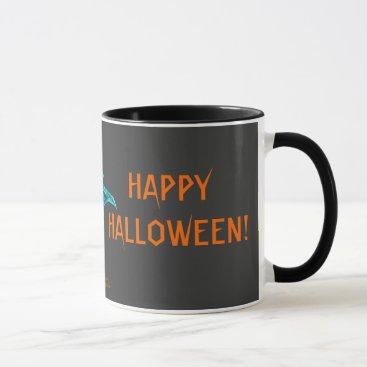 Halloween Themed Neon Blacklight Bat Mug