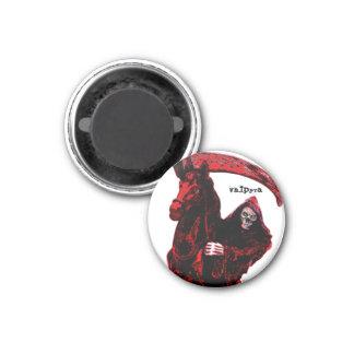 Neon Blood Grim Reaper Horseman Series by Valpyra 1 Inch Round Magnet