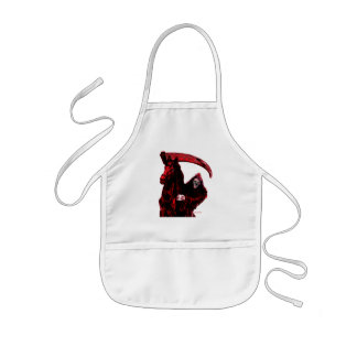 Neon Blood Grim Reaper Horseman Series by Valpyra Apron