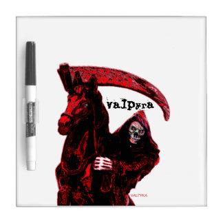 Neon Blood Grim Reaper Horseman Series by Valpyra Dry-Erase Board