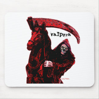 Neon Blood Grim Reaper Horseman Series by Valpyra Mouse Pad