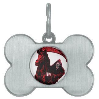 Neon Blood Grim Reaper Horseman Series by Valpyra Pet ID Tag