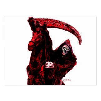 Neon Blood Grim Reaper Horseman Series by Valpyra Postcard
