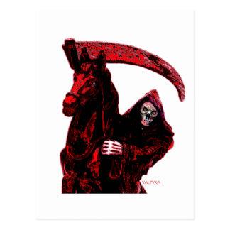 Neon Blood Grim Reaper Horseman Series by Valpyra Post Cards