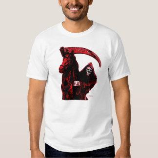 Neon Blood Grim Reaper Horseman Series by Valpyra T Shirt