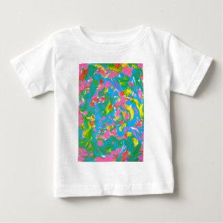 Neon Bloom - Abstract Art Brushstrokes Baby T-Shirt