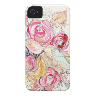 Neon Blooms iPhone Case iPhone 4 Covers