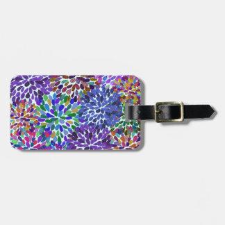 Neon Blooms Bag Tag