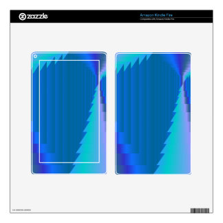 Neon Blue Abstract Boxes Kindle Fire Skins