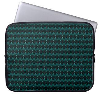 Neon Blue Alien Head Computer Sleeves