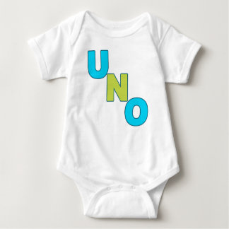 NEON blue and green UNO Birthday Tee
