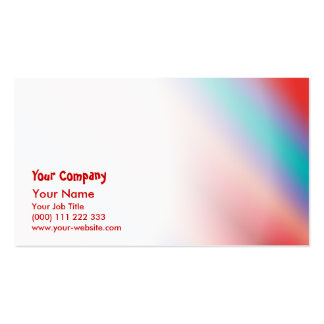 Neon blue and red color harmony business card