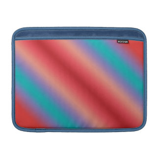 Neon blue and red color harmony MacBook air sleeve