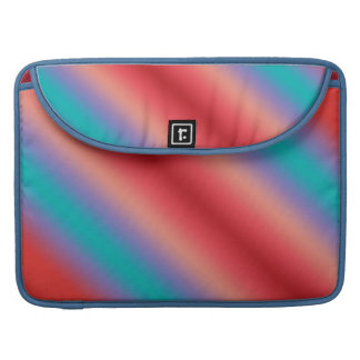 Neon blue and red color harmony sleeves for MacBooks