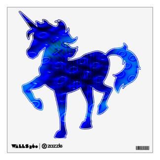 Neon Blue Binary Abstract Wall Sticker