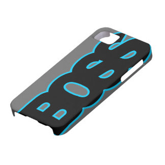 Neon Blue BOSS iPhone 5 Covers