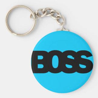 Neon Blue BOSS Keychain