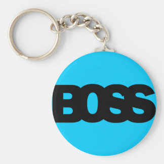 Neon Blue BOSS Key Chains