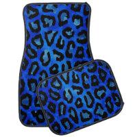 Neon Blue Cheetah Vector Car Floor Mat