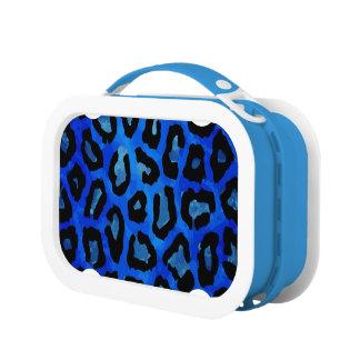 Neon Blue Cheetah Vector Lunch Box