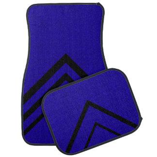Neon Blue Color Velvet Personalize or Classic Car Floor Mat