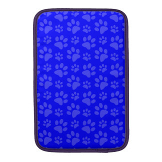 Neon blue dog paw print pattern sleeves for MacBook air