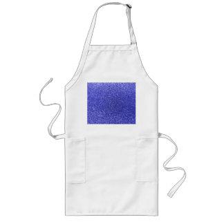 Neon blue glitter apron