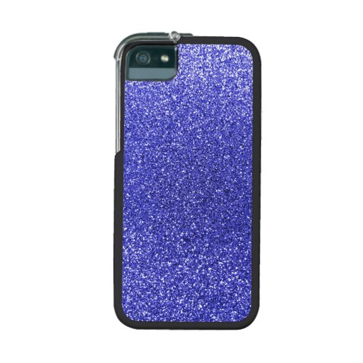 Neon blue glitter cover for iPhone 5/5S