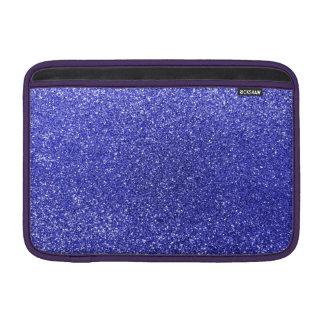 Neon blue glitter MacBook air sleeve