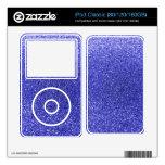 Neon blue glitter iPod classic decal