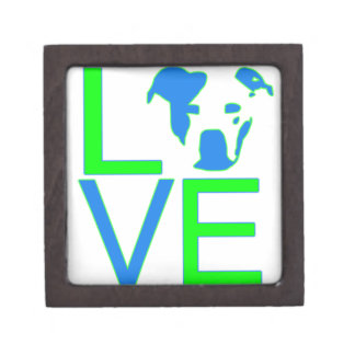 Neon Blue & Green Pit Bull Love Gift Box