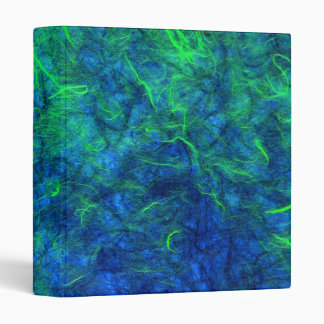Neon blue green psychedelic Japanese rice paper Binder