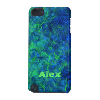Neon blue green psychedelic Japanese rice paper iPod Touch 5G Case