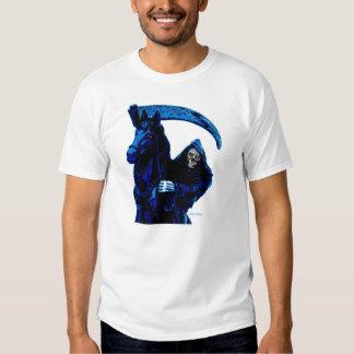 Neon Blue Grim Reaper Horseman Series by Valpyra Tee Shirt