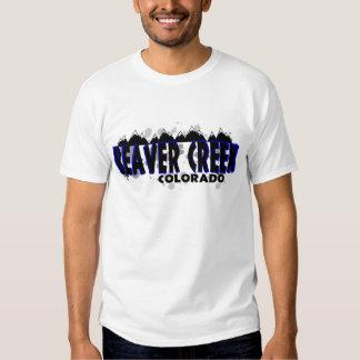 Neon blue grunge Beaver Creek Colorado Tee Shirt